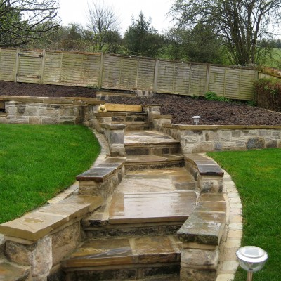 Calverley back garden path and steps