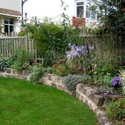 Customer's planting Headingley front garden