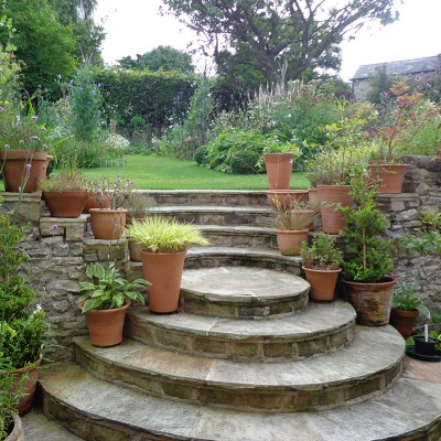 Stone Steps in garden, Bradley
