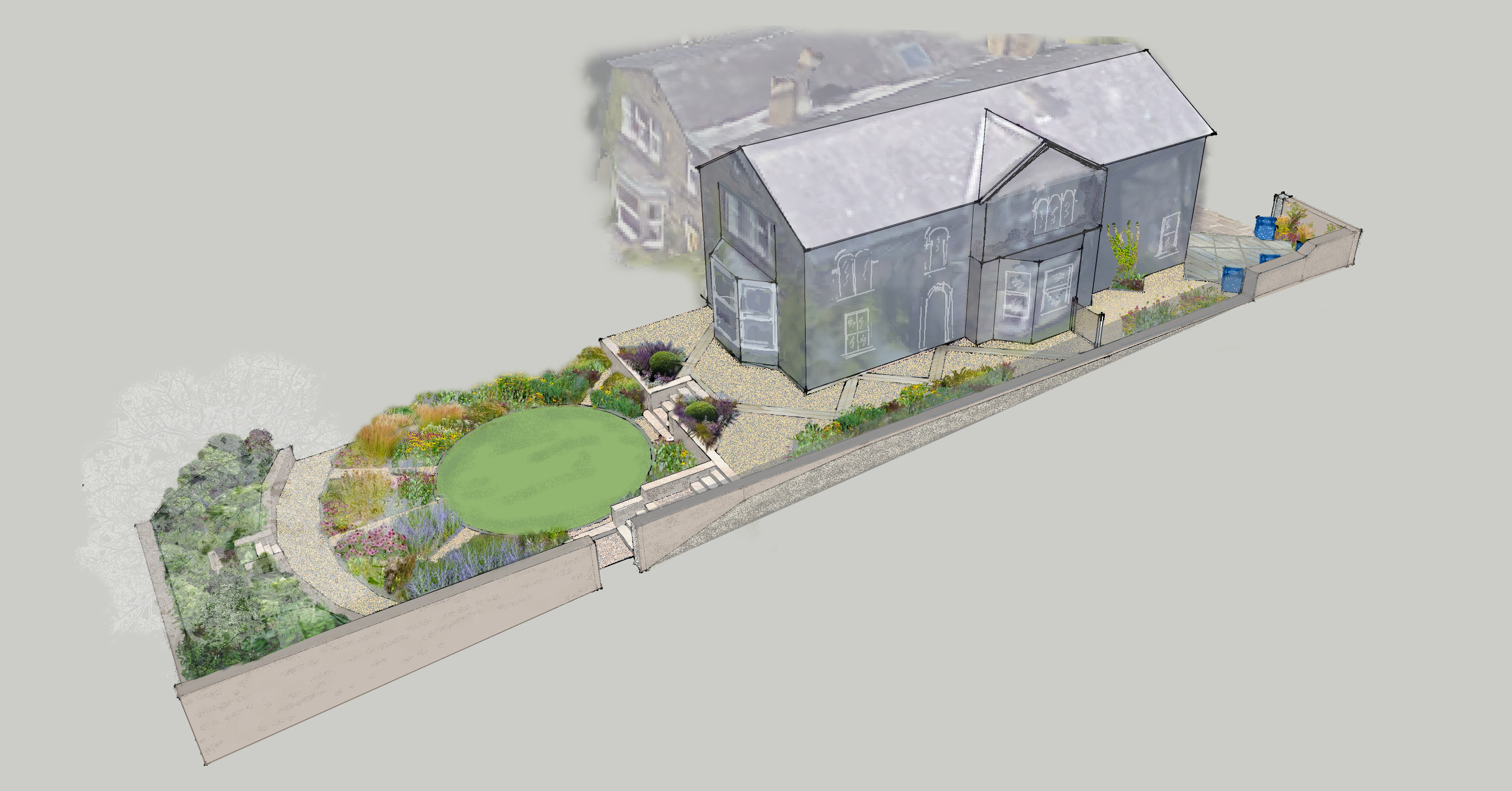 Headingley Garden inspired by Church - Leeds Garden Designer