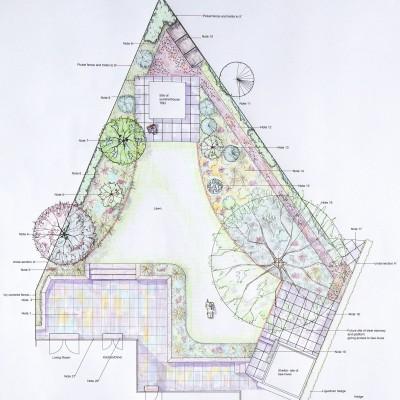 Bee friendly back garden Master plan for Headingley garden