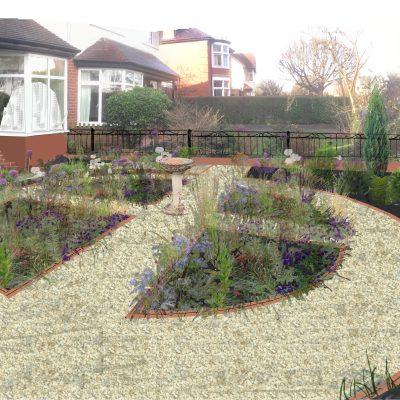 Visual West Park garden after