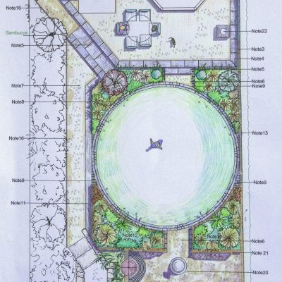 Plan view of naturalistic styled Headingley garden